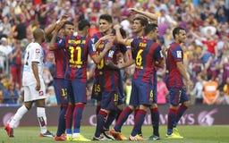 La Corogne Liga - España de Lionel Messi FC Barcelone v Fotografía de archivo