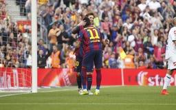 La Corogne Liga - España de Lionel Messi FC Barcelone v Imágenes de archivo libres de regalías