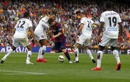 La Corogne Liga - España de Lionel Messi FC Barcelone v Imagenes de archivo