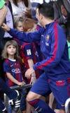 La Corogne Liga - España de Xavi Hernandez FC Barcelone v Fotos de archivo libres de regalías