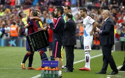 La Corogne Liga - España de Xavi Hernandez FC Barcelone v Fotografía de archivo libre de regalías