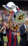 La Corogne Liga - Espanha de Xavi Hernandez FC Barcelone v Fotos de Stock Royalty Free
