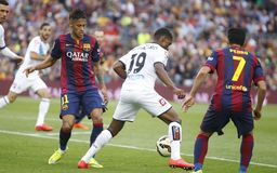 La Corogne Liga - Spagna di junior FC Barcelone v di Neymar Fotografia Stock Libera da Diritti