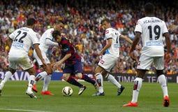 La Corogne Liga - Spagna di Lionel Messi FC Barcelone v Immagine Stock Libera da Diritti