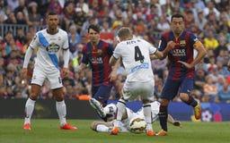 La Corogne Liga - Spagna di Xavi Hernandez FC Barcelone v Immagini Stock Libere da Diritti