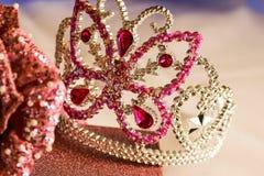 la corona di scintillio di principessa del diadema è aumentato Immagine Stock