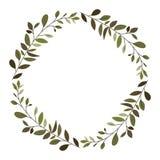 La corona hojea marco circular libre illustration
