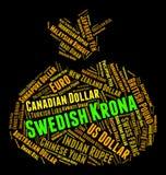 La corona sueca indica el intercambio Rate And Banknote ilustración del vector