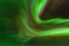 Corona verde de la aurora Foto de archivo libre de regalías