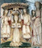 La coronación de la Virgen María bendecida Imagenes de archivo