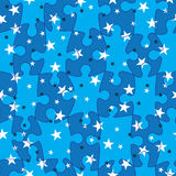 La corrispondenza di puzzle Stars Pattern_eps senza giunte Fotografie Stock
