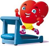 La corsa è lo sport del cuore Fotografia Stock