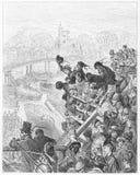 La corsa di barca: Ponte di Putney, il ritorno Fotografie Stock