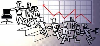 La corsa di job Fotografie Stock