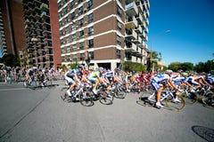 La corsa di Peloton Fotografia Stock