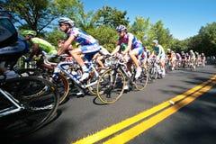 La corsa di Peloton Fotografie Stock