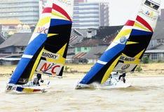 La corsa Yachting della tazza 2008 di monsone Immagine Stock