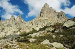 La Corsica interna, valle di Restonica Fotografie Stock Libere da Diritti