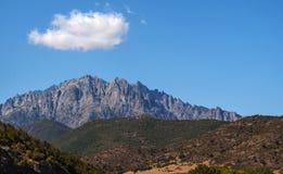 La Corsica, supporto Cinto, paesaggio selvaggio, Corse Haute, Corse superiore, Francia, Europa, Haut Asco, valle di Asco, alto ce Immagine Stock Libera da Diritti