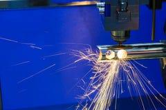 La cortadora del laser de la fibra Imagenes de archivo