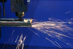 La cortadora del laser de la fibra Imagen de archivo libre de regalías