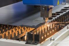 La cortadora del laser de la fibra Imagen de archivo