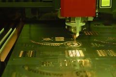 La cortadora del laser de la fibra Fotos de archivo