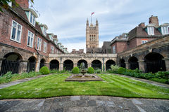 La corte dentro de la abadía de Westminster, Londres Fotografía de archivo libre de regalías