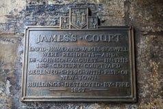 La corte di James a Edimburgo Fotografia Stock Libera da Diritti