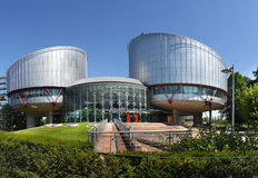 La Corte Europea dei Diritti Umani Fotografie Stock Libere da Diritti