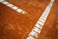 la corte fredda della priorità bassa allinea il tennis Immagini Stock