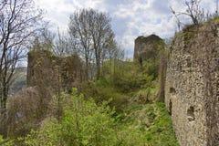 La corte medievale dell'interno della fortezza di Bologa Immagini Stock Libere da Diritti