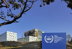 La Corte penale internazionale Fotografia Stock