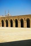 La corte principale della moschea di Ibn Tulun a Cairo Fotografia Stock