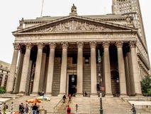 La corte suprema dello stato di New York, Stati Uniti - New York immagine stock libera da diritti