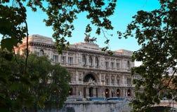 La Corte suprema di cassazione al giorno soleggiato, Roma, Italia fotografia stock