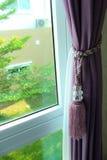 La cortina púrpura Fotos de archivo libres de regalías