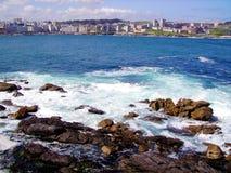 La Coruña, Galizien stockfotos