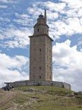 La coruña. The Hercule's tower view in La Coruña, Galicia Stock Photo