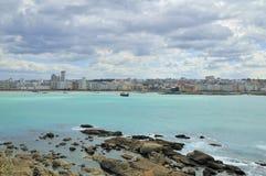 La Coruna bay. Landscape of La Coruna, Galicia, Spain Stock Photos