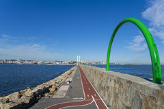 La Coruna coast. Stock Photo
