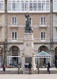 LA CORUNA, ESPAÑA - 20 DE MARZO: Monumento a Maria Pita Fotografía de archivo libre de regalías