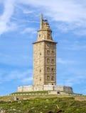 La Coruna Galicia, España de la torre de Hércules Foto de archivo libre de regalías