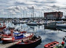 La Coruna Jachthafen stockbilder