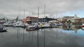 La Coruna-Jachthafen Stockbild