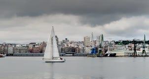 La Coruna-Jachthafen Lizenzfreie Stockfotos