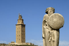 La Coruna lighthouse. Tower of hercules in galicia Royalty Free Stock Photos
