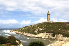 La Coruna lighthouse. Tower of hercules in galicia Royalty Free Stock Images