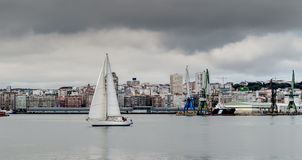 La Coruna Marina Royalty Free Stock Photos
