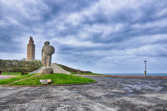 La Coruna, Spain, the lighthouse Royalty Free Stock Photography